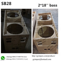 dual 18'' best compact powerful subwoofer, best loud bass SB28 speaker box sound system