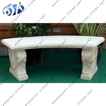 white marble bench with lion sculpture leg hand carved bench
