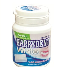 Happyden White Peppermint Chewing Gum 56G