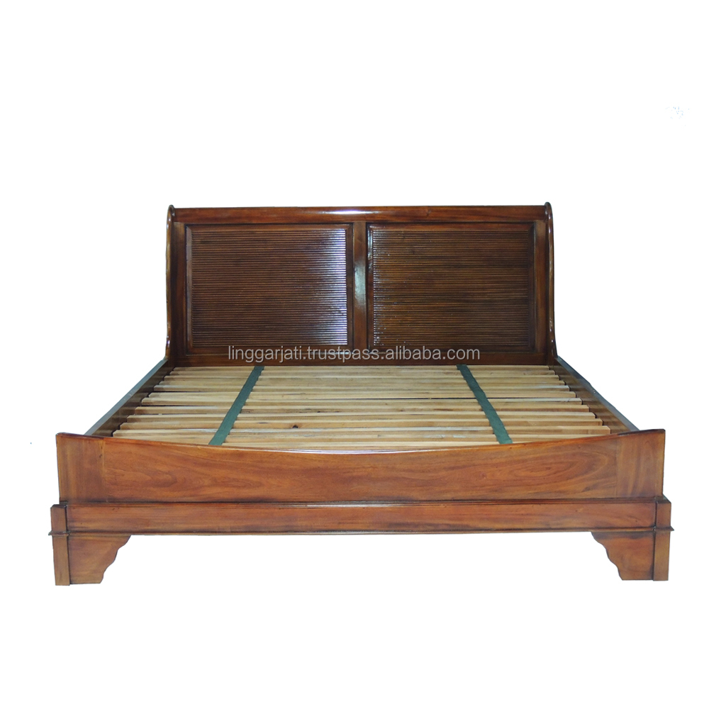 Best Quality Versailles High Head Bed Set Wood Furniture