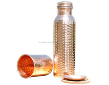 HAND HAMMERED PURE COPPER WATER BOTTLE-25 OZ