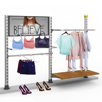 slotted channel t-shirt display glass shelf bracket