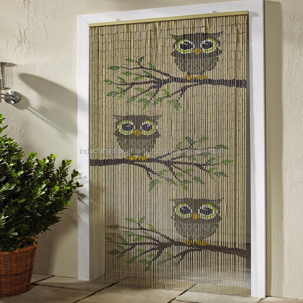 Bamboo hanging door curtain/ sunflower beaded door curtain