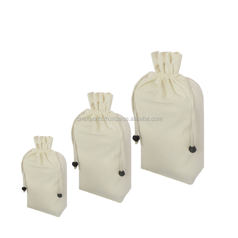 premium quality drawstring cotton bag