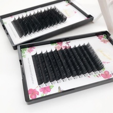 0.20mm Thickness D Curl <strong>Flat</strong> and classical Lashes Volume Eyelash Extensions Faux Mink Fur Individual Eyelashes extensions