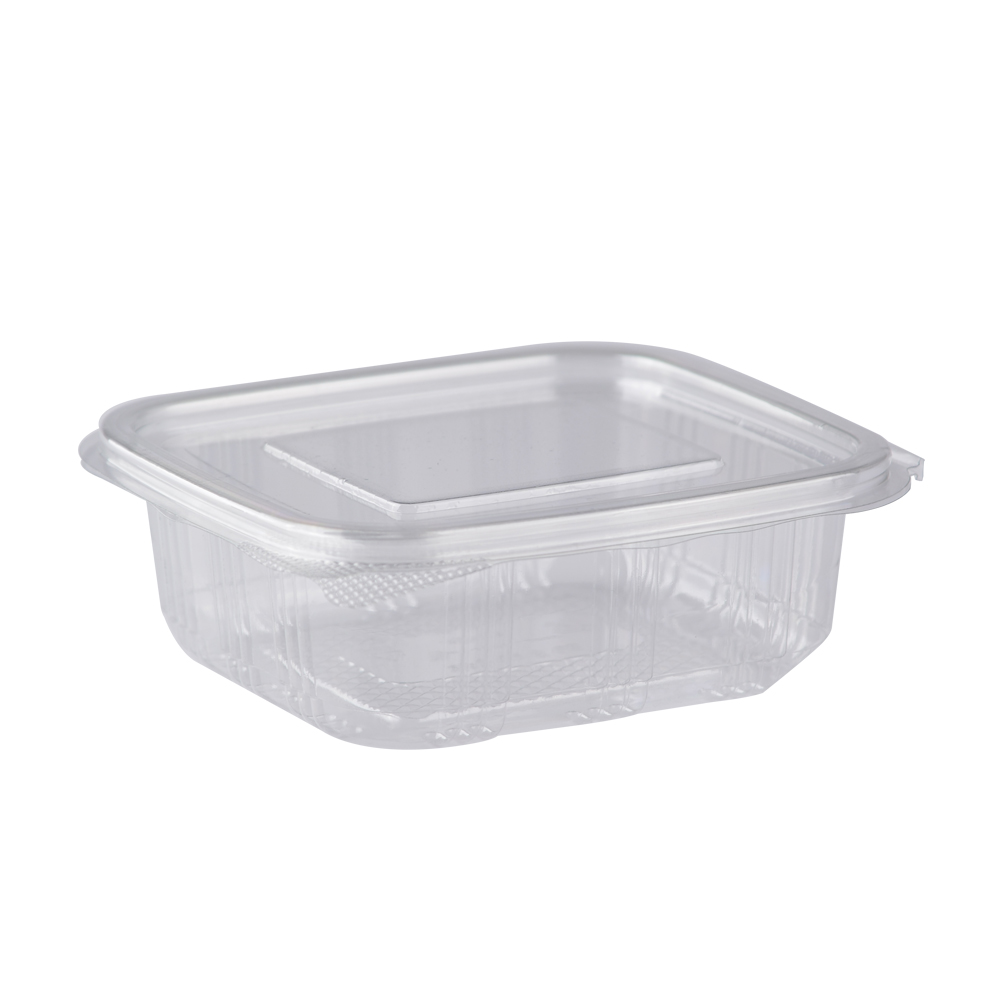 150cc Hinged-Lid Container PET