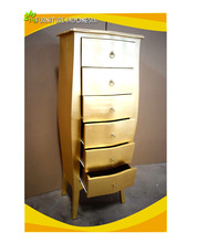 New solid mahogany wood 6 drawer chest of gold drawers good price