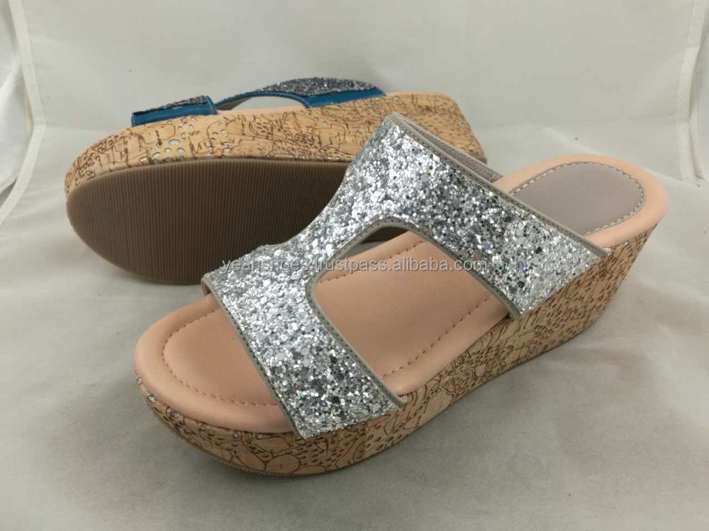 OEM Ladies Comfort Cork Wedges Sandals Malaysia