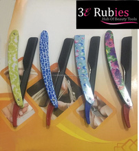 Flag paper coated straight stainless steel razor sets / straight razor with flag paper color coated