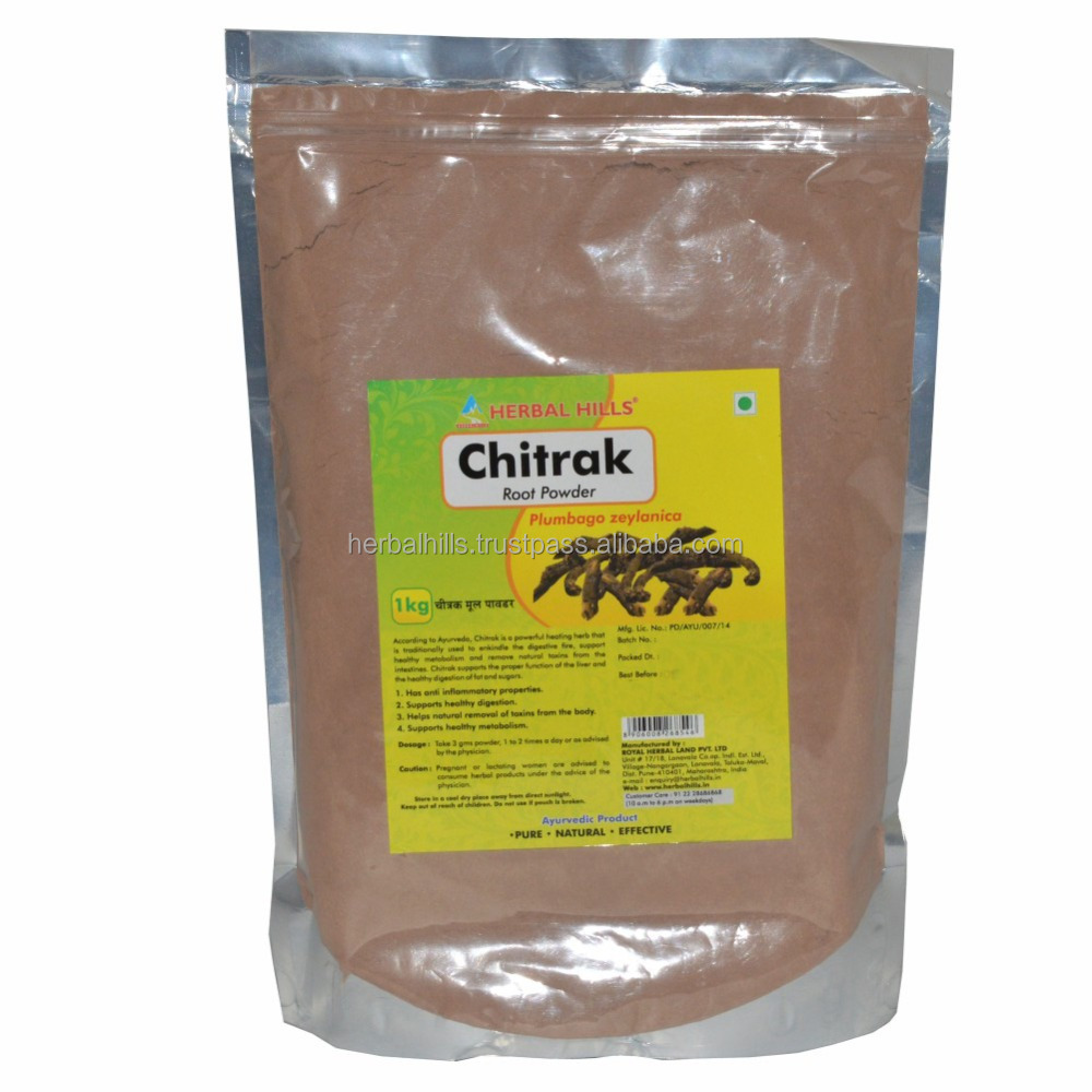 Natural and Pure Chitrak Powder / Chitrak mool 1 kg pack for Digestion, inflammation and detoxification