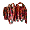 European Manufacturer Multi Colored 5mm Round Braided Leather cords