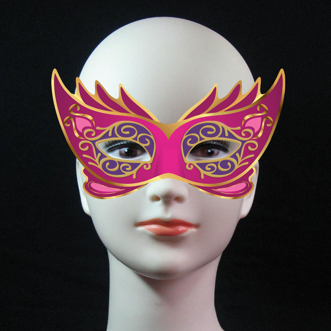 Happy Birthday Children Party Mask Party Supplies Purple Party Paper Mask