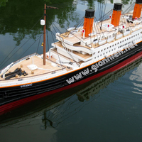RMS TITANIC READY RC WOODEN MODEL BOAT_ WOODEN HANDICRAFT MODEL