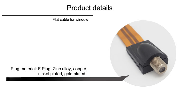 High quality flat cable under door & window with cheap price