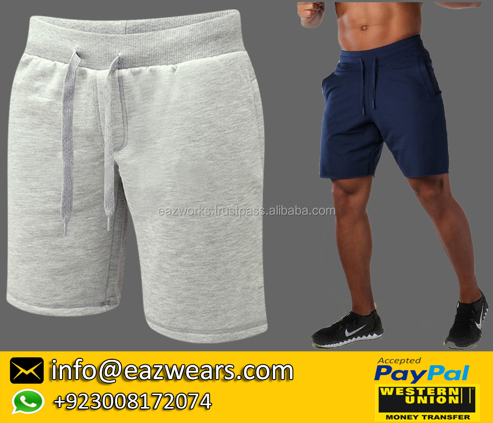 High Quality Gym Shorts Plain Blank Unbranded 100% Cotton Fleece Gym Shorts