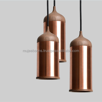 Decorative Pendant Lamp - Modern Style - Metal and Wooden Indoor Lamps