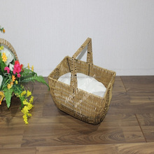 Hot item Poly Rattan pet baskets for pet bed/dog bed/cat bed with cushion inside - CH2870A-1YL