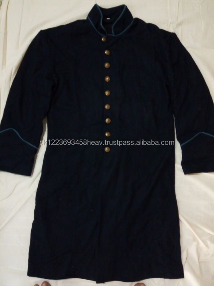 Civil War Union Federal Single Breasted Frock Coat 9 Eagle Buttons Wool Civil War Coat