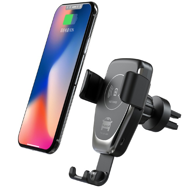 2019 Free Shipping <strong>2</strong> in <strong>1</strong> automatic wireless car charger adapter phone amount for car air vent charging C12