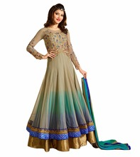 Urvashi Rautela 2017 Party Wear Anarkali Suits / Wedding Occasion Wear Anarkali Dresses Designs 2017 (anarkali dresses)