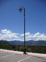 Italian style Cast iron or aluminum lamp post pole with octagonal base
