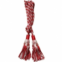 Silver / Red 100% silk bagpipe cord