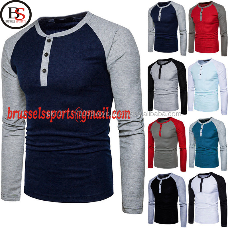 Brussels Sports 2017 Men's Long Sleeve Polo Shirt Casual Shirts Basic Tee Tops Cotton T-shirt
