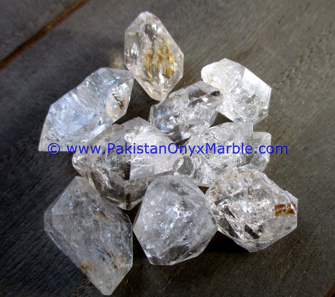 NATURAL RAW ROUGH AA GRADE GEMSTONE HERKIMER DIAMOND QUARTZ CRYSTALS DOUBLE TERMINATED