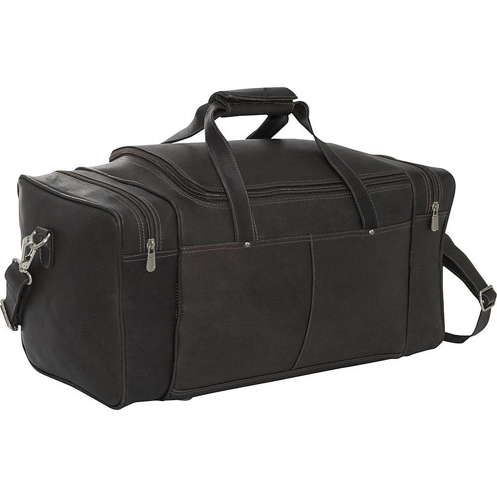 Duffel Travel Bag Leather PU Black Color