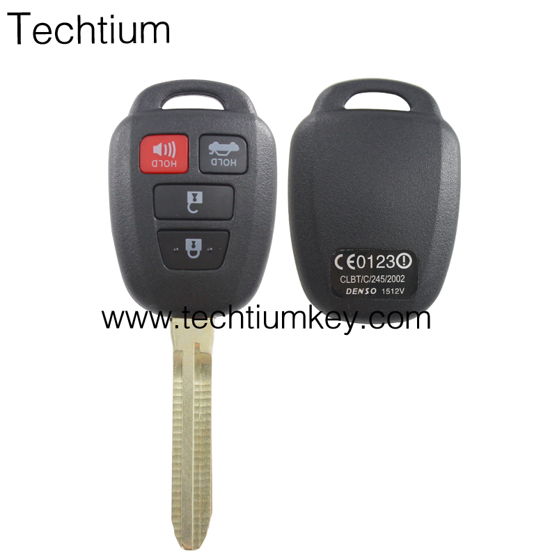high quality and nice price toyota <strong>h</strong> key remote car key case cover suit for toyota 3 + 1 btns with blade