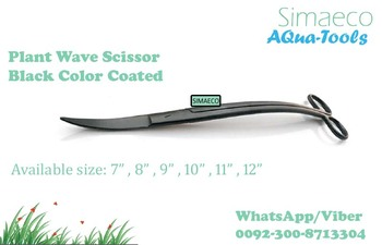 Plant Wave Scissor Black Color Coated