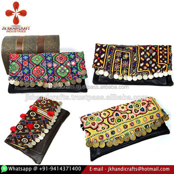 Hand Embroidered Kutch Banjara Clutch Bags
