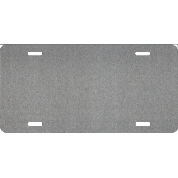 Brushed Chrome Dye Sublimation Aluminum License Plate Blanks-Quantity Discounts Given