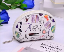 Custom printed promotion gift PVC cosmetic bag Travel PVC makeup zipper printing pouch PVC fashion women toiletry bag (KL34003)