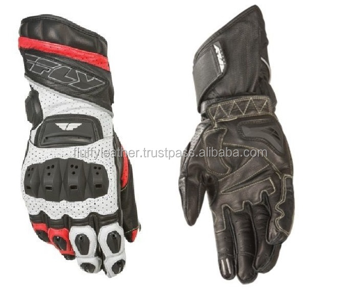 Racing Gloves Leather Armored Street Gauntlet Motorcycle--MG-183