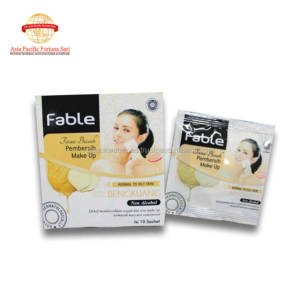 Facial Wet Tissue for Clean Make Up Non Alcohol