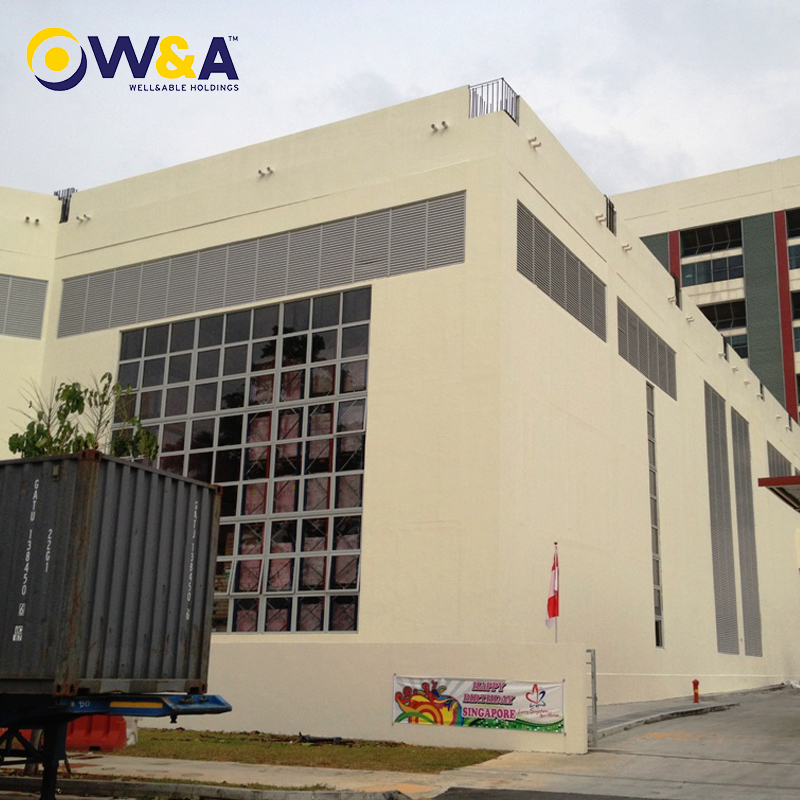 (WA-819)China Low Cost Prefab Steel Structure Warehouse Building with Insulation