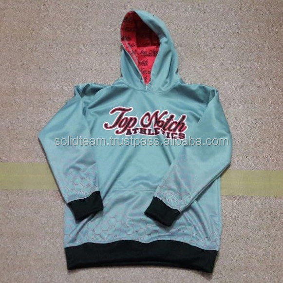 custom 100% polyester fleece sublimation hoodies for unisex