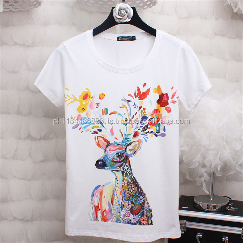 costume design great potential white tee shirts deer print