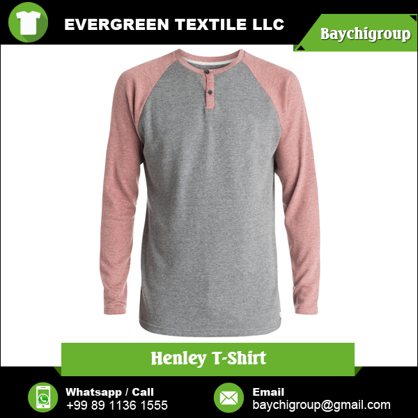 New Products Excellent Quality Sublimated Henley T shirts