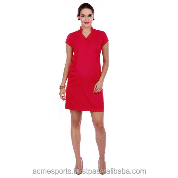 Maternal Dress - new design red color maternity dress