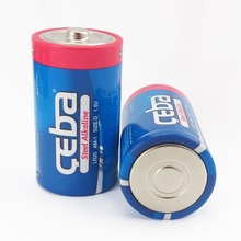 High Density Cheap 1000mAh LR20 1.5V Alkaline D Size Cell Batteries