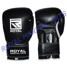 Custom logo Leather Boxing Gloves Muay Thai Kick Boxing Gloves Punching MMA Training Lace Up Professional gloves