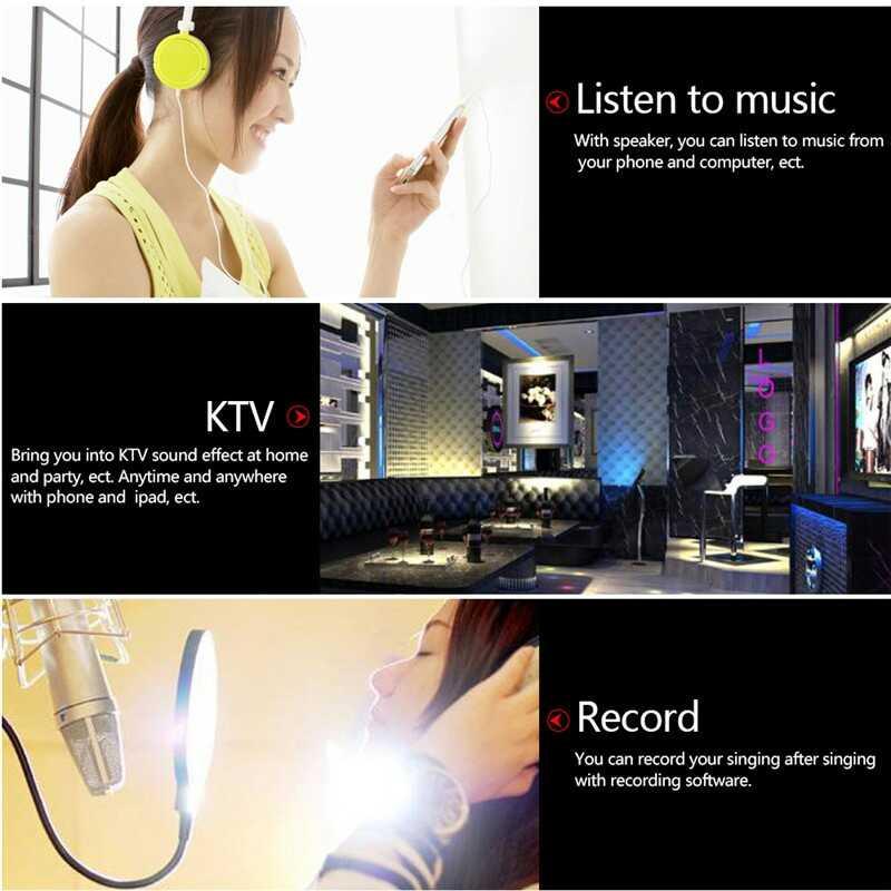 Professional Mini Portable karaoke Player Karaoke microphone bluetooth