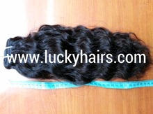 Temple 100% virgin Indian natural curly hair weaving no steam process no shedding 100% CURLY Hair