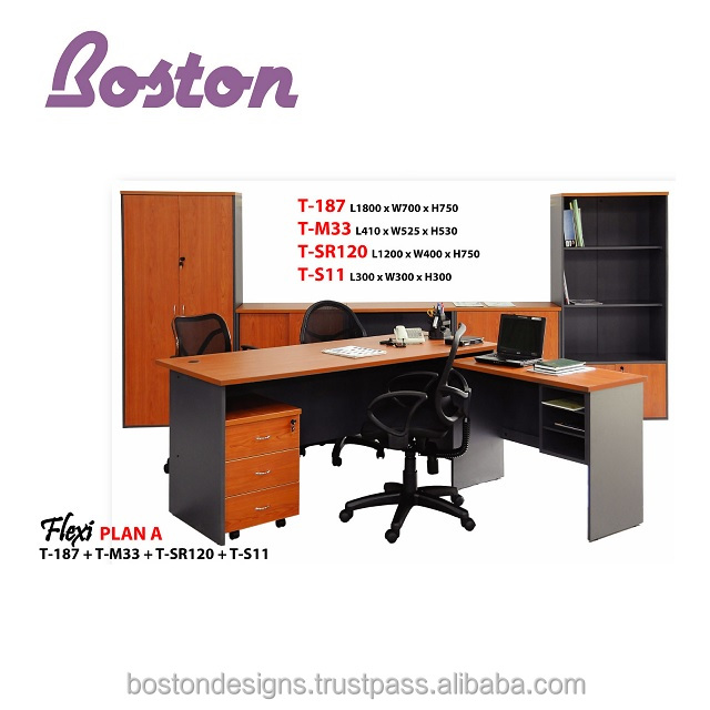 Director Office Table Set - Melamine Laminated Chipboard