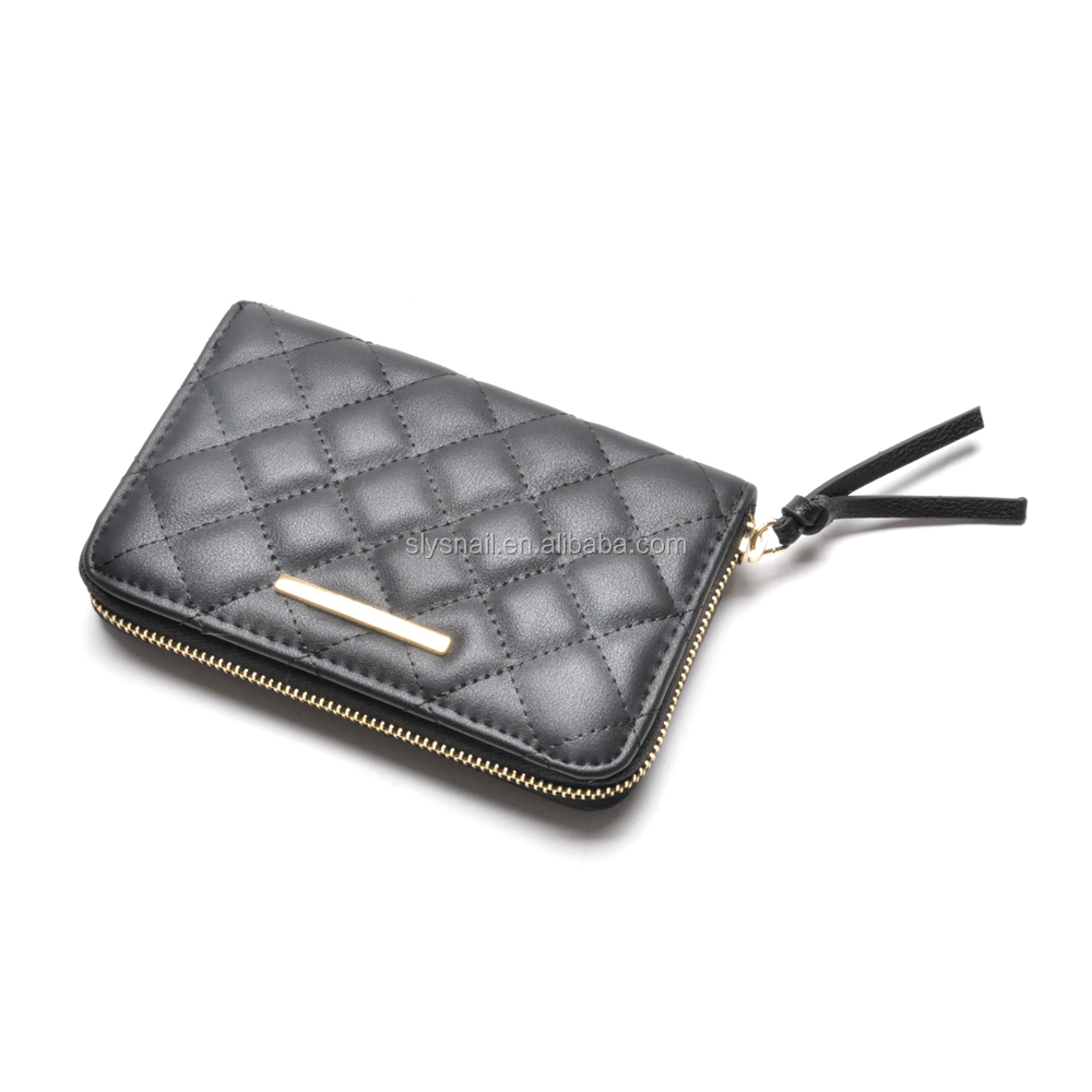 custom mental logo ladies Quilted wallet