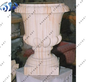 Pink Sandstone Home Large Decor Urn