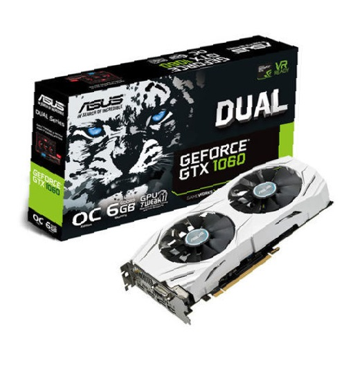 FREE GAME A-SUS NVIDIA GeForce GTX 1060 DUAL O.C. 6GB - Graphics Card