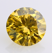 Round Brilliant Cut Yellow Moissanite Diamond